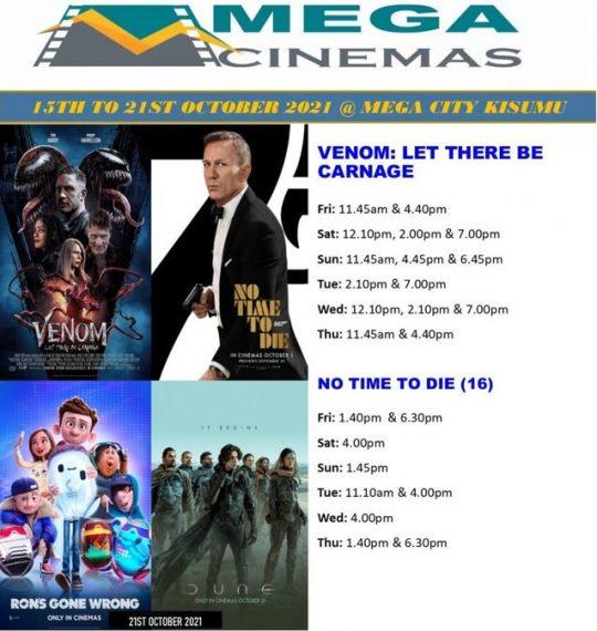 Mega Cinema Kisumu Week 41 Lineup – 15th to 21st Oct 2021