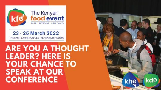 Speak At The Kenyan Food Event Conference In March 2022