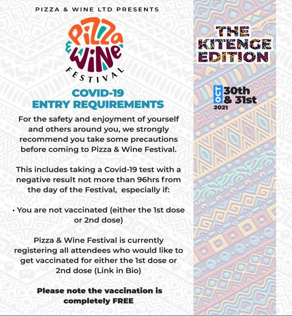 Pizza & Wine Festival - The Kitenge Edition