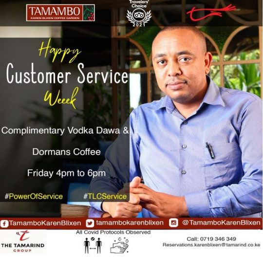 Customer Service Week - Tamambo Karen Blixen