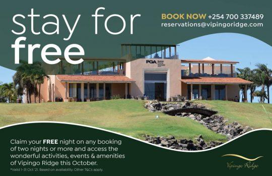 Claim Your Free Night October Offer - Vipingo Ridge